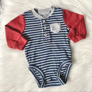 (🌷4/$20🌷)Carter's long sleeve stripe baby onesie